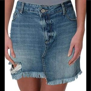Paige Distressed Cut-off Jean Skirt Size 26